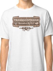 Vintage Thanksgivukkah November 28 2013 Classic T-Shirt