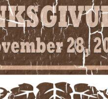 Vintage Thanksgivukkah November 28 2013 Sticker