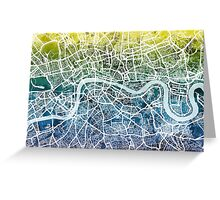 London England Street Map Greeting Card