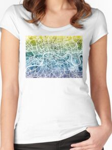 London England Street Map Women's Fitted Scoop T-Shirt