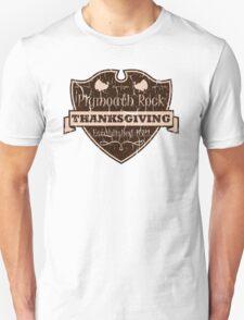 Plymouth Rock Thanksgiving Crest T-Shirt