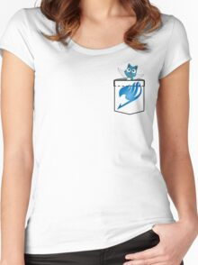Pocket Happy! Women's Fitted Scoop T-Shirt