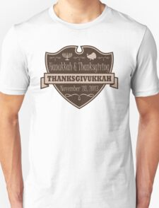 Once in a Lifetime Thanksgivukkah Crest T-Shirt