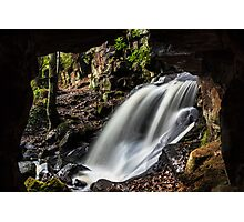 Caves at Lumsdale Photographic Print