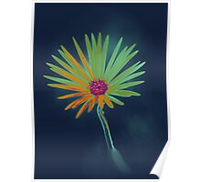 Blue Daisy Flower Poster