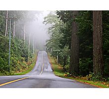 Island Road in October Photographic Print
