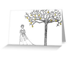 Cinderella and Her Pear Tree Greeting Card