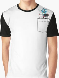Pocket Fairy Tail Cats Graphic T-Shirt