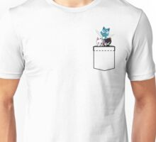 Pocket Fairy Tail Cats Unisex T-Shirt