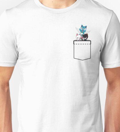 Pocket Fairy Tail Cats Unisex T-Shirt