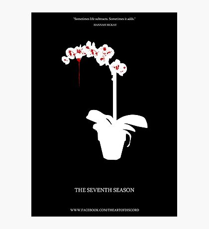 Bloody Orchid Photographic Print