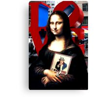 Gioconda Travelling - USA Canvas Print