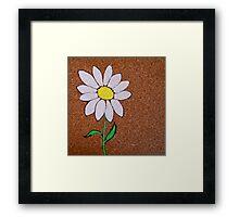 corkboard daisy Framed Print