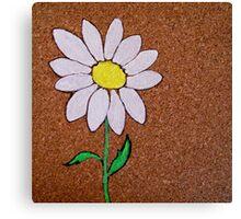corkboard daisy Canvas Print