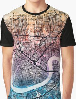 Washington DC Street Map Graphic T-Shirt