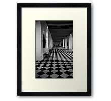 Hall Of Chateau de Chenoceau Framed Print