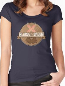 Beards and Bacon Women's Fitted Scoop T-Shirt