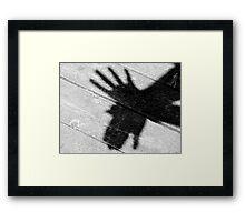 Shadow Bird Framed Print