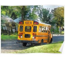 Parked School Bus Poster