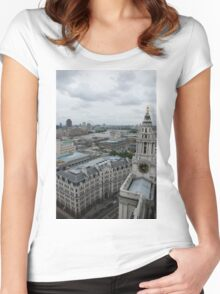 The Thames From St Paul's Women's Fitted Scoop T-Shirt