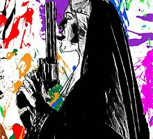 nun with gun by American Artist