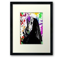 nun with gun Framed Print
