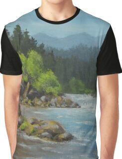 Dancing River Graphic T-Shirt