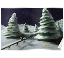 Tomte & Friends Winter Night Poster
