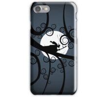 Samurai at Night (blue) iPhone Case/Skin