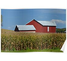Pennsylvania Barn and Field  Poster