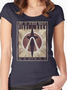 Borderlands 2 'Join the Crimson Raiders' Women's Fitted Scoop T-Shirt