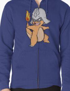 Char-Mander Aznable (Pokemon) Zipped Hoodie