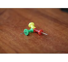 push pins Photographic Print