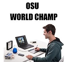 osu world champ Photographic Print