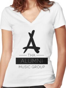 Tha Alumni Music Group Logo (FIXED) Women's Fitted V-Neck T-Shirt