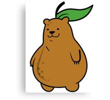 Pear Bear Canvas Print