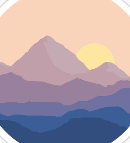 Chill Mountain Horizon Sticker