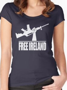 Free Ireland (Vintage Distressed Design) Women's Fitted Scoop T-Shirt
