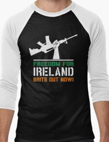 Freedom for Ireland (Vintage Distressed) Men's Baseball ¾ T-Shirt