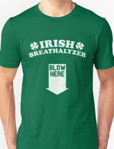 Funny Irish Breathalyzer (Vintage Distressed) T-Shirt