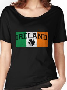 Vintage IRISH Flag (Distressed Design) Women's Relaxed Fit T-Shirt