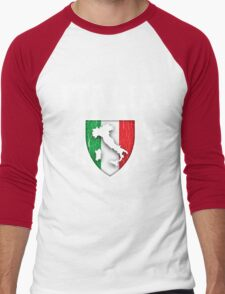 ITALIA - Classic Itlay Flag Crest (Vintage Distressed Design) Men's Baseball ¾ T-Shirt