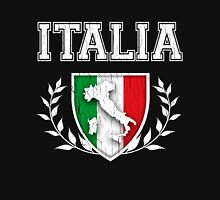 ITALIA - Classic Itlay Flag Crest (Vintage Distressed Design) Hoodie