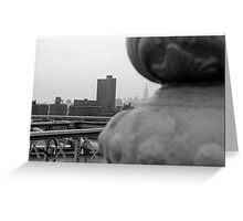 EMPIRE STATE BUILDING IN CITY SCAPE Greeting Card