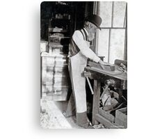 Cabinet Card: 19th Century Cabinet Maker  Canvas Print