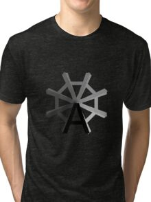 The wheel of Typography Tri-blend T-Shirt