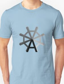 The wheel of Typography T-Shirt
