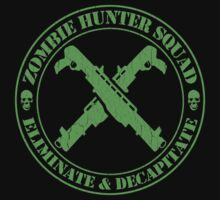 Zombie Hunting Squad (Distressed Design) by robotface