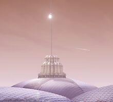 Sheffield And The Space Elevator by Ludovic Celle
