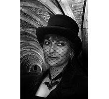 Lady Vampire at Fountains Abbey Photographic Print